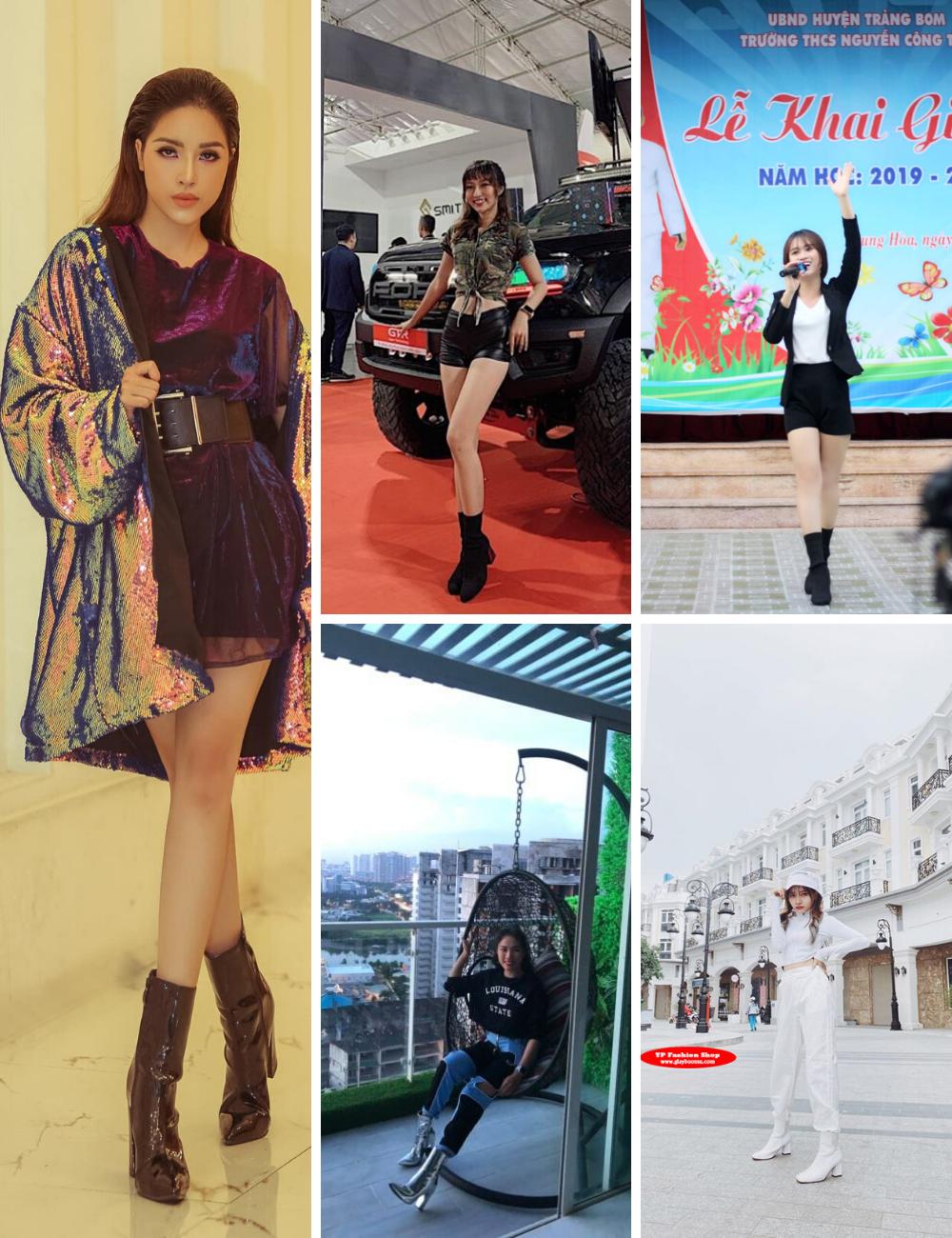 Khách hàng của shop giày boot nữ TP Fashion