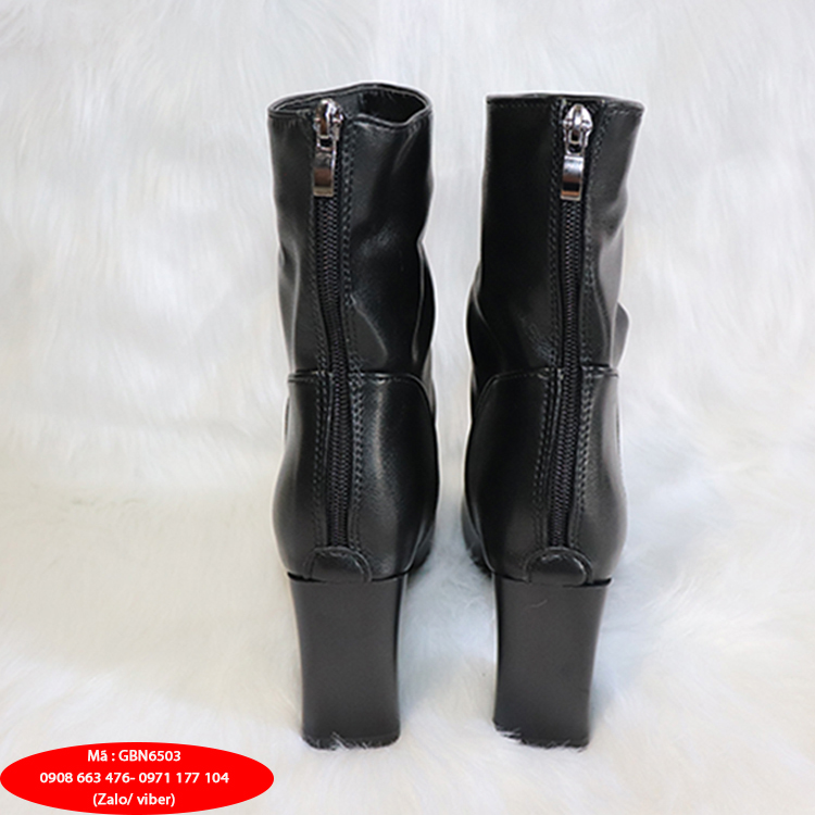 Boot dúng da mờ màu đen THỜI THƯỢNG GBN6503