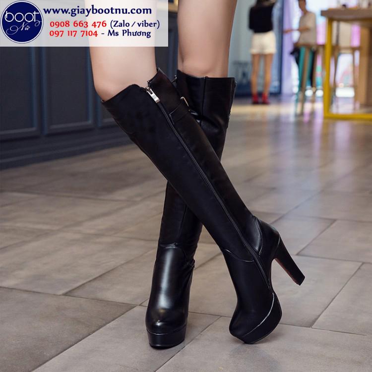 Boot ống cao dưới gối cao 12cm SÀNH ĐIỆU GCC2501