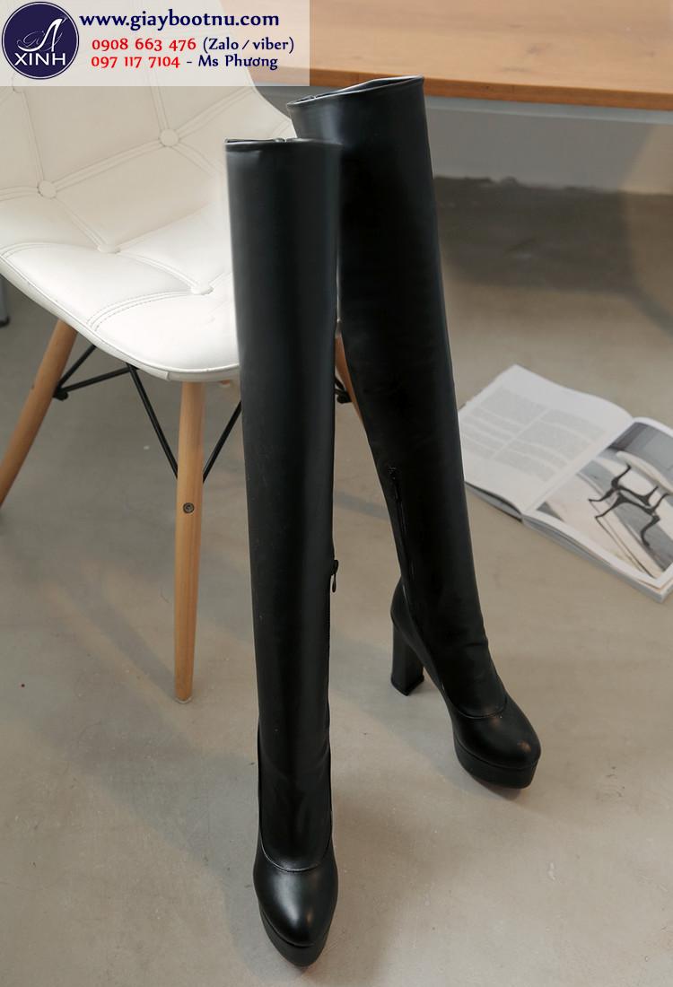 Boot cao cổ ống dài 56cm size lớn GCC4701