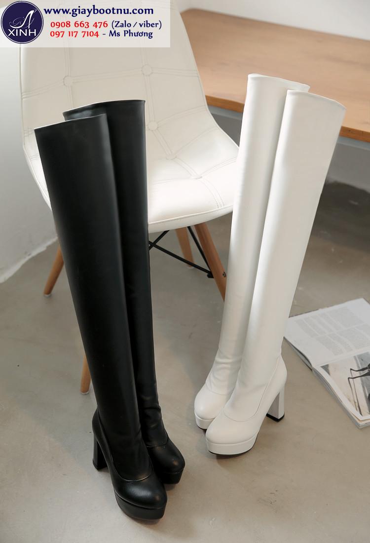 Boot cao cổ ống dài 56cm size lớn GCC4702