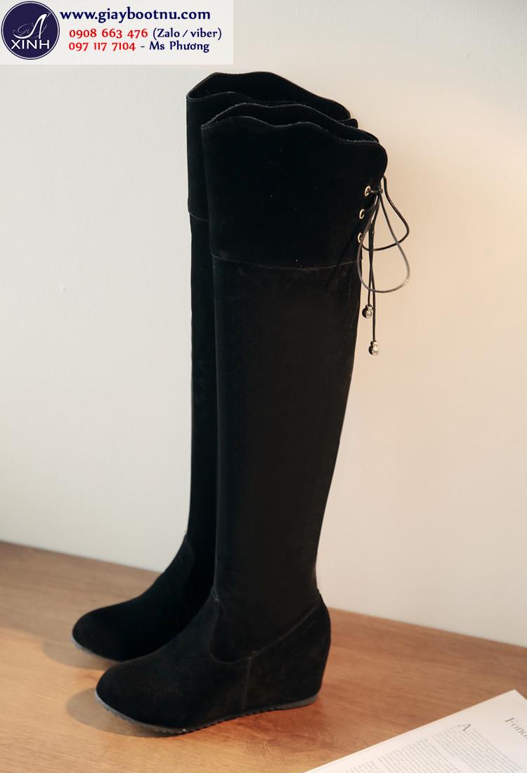 Boot nữ ống cao độn đế xinh xắn GCC4901
