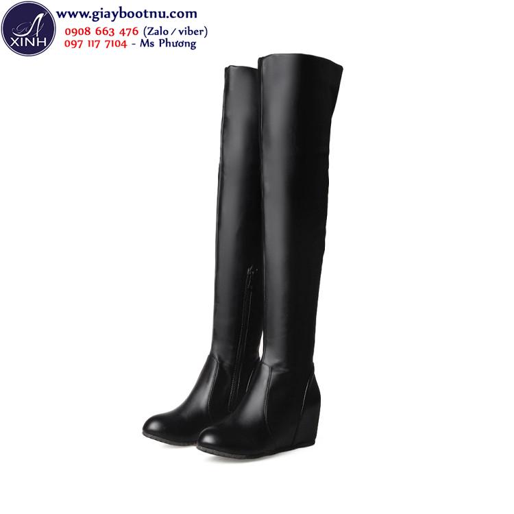 Giày boot ống cao đế xuồng size lớn GCC5001